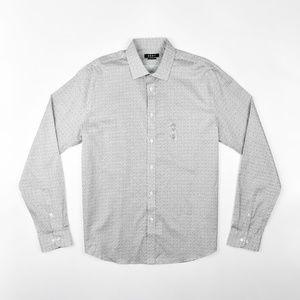 DKNY Men's Slim Fit Printed Dress Shirt - XL